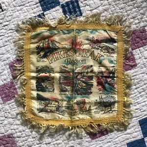 Other - Vintage 1940's Pike's Peak Souvenir Pillowcase